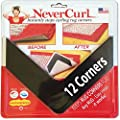 NeverCurl's Best V Shape Design to Instantly Stops Rug Corner Curling. Safe for Wood Floors. for Indoor & Outdoor Rugs. NOT an Anti-Slip Version. Made USA. Patent Pending