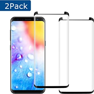 [2Pack] Galaxy S8 Screen Protector, 3D Curved Full Coverage [High Definition] [Easy to Install] [Anti-Bubble] [Anti-Scratch] for Samsung Galaxy S8 Screen Protector