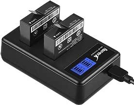 AZ16-1 Asperx Replacement Battery (2 Pack) and Dual USB Charger for Xiaomi YI 4K,Yi 4K+,Yi Lite,YI 360 VR Action Camera