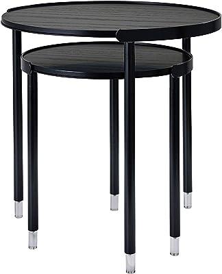 Adesso Blaine Nesting Tables, Black