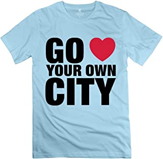 Go Love Your Own City Sky Blue Adult Standard Weight T-Shirt for Men