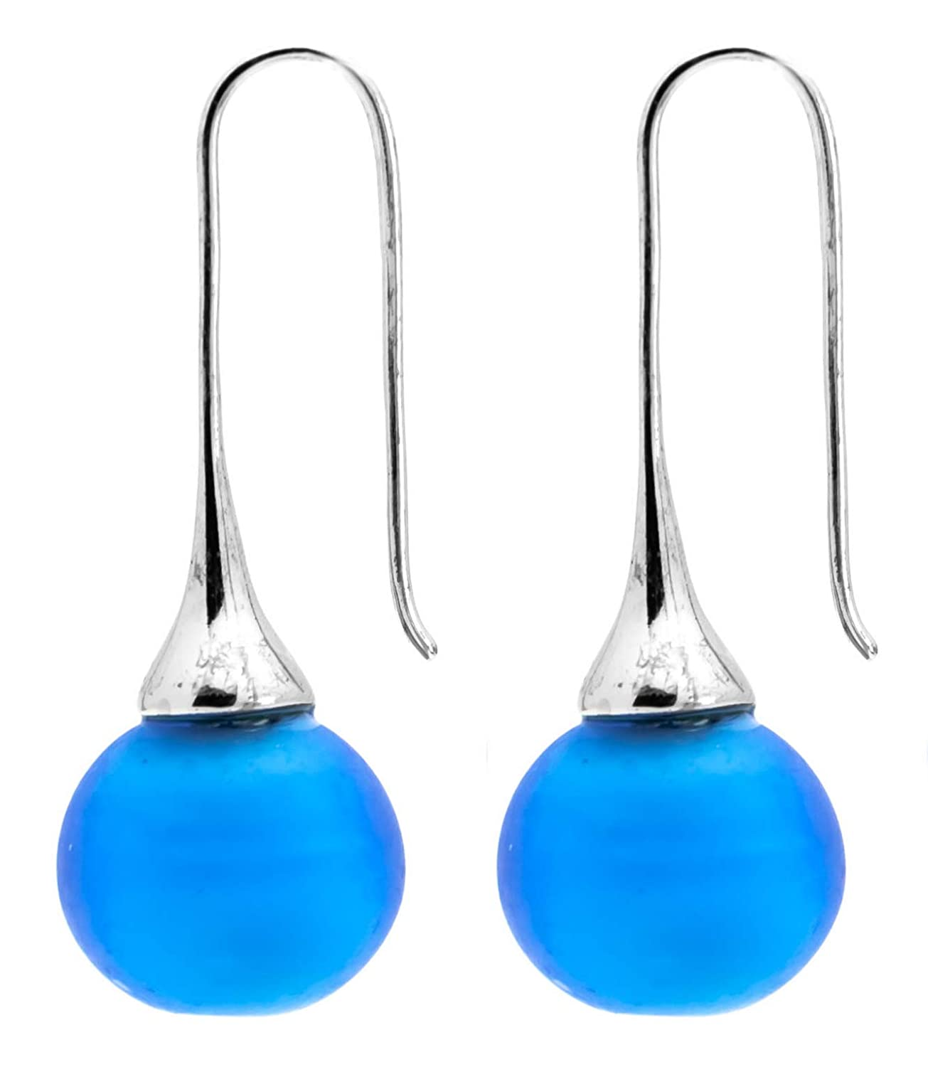 Authentic Murano Glass San Antonio Mall Drop Earrings earrings - Dangle Max 41% OFF -Frosted