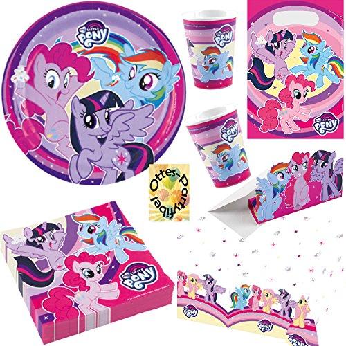 HHO My Little Pony Partyset 53tlg. für 8 Kinder Teller Becher Servietten Tischdecke Tüten Einladung
