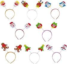 8 peças de tiaras de Natal tiaras de festa engraçadas brinquedos de festa de Natal presentes de Natal adereços de decoração