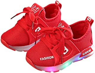 XuBa Unisex Children LED Light Shoes Sports Casual Anti-skid Baby Breathable Shoes