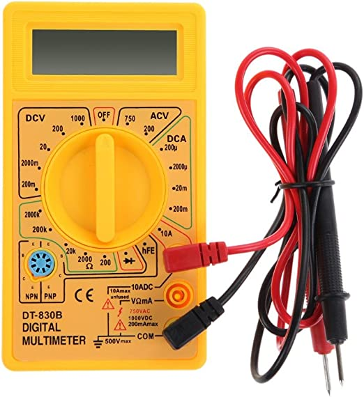 DT830B LCD Digital Multimeter Voltmeter Ammeter Ohmmeter Volt AC DC Tester Meter