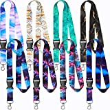 8 Pieces Key Lanyard ID Lanyards Neck Strap Key Chain Holder for Women Men (Starry Style)