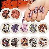 Kalolary 12 Boxes Halloween Nail Art Sticker...