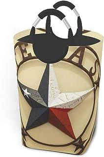 N\A Western Texas Stars Paniers de Rangement Panier à Linge Souple et Sale Sac Organisateur écologique Chariot de tri Amov...