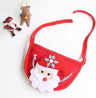 الكلب والقط الحيوانات الأليفة قبعة عيد الميلاد يبصقون مسح مريلة بصقوشاحأحمرأسفللزجةرجليبلغمنالعمر(مناسبةللحيواناتالأليفةدا...