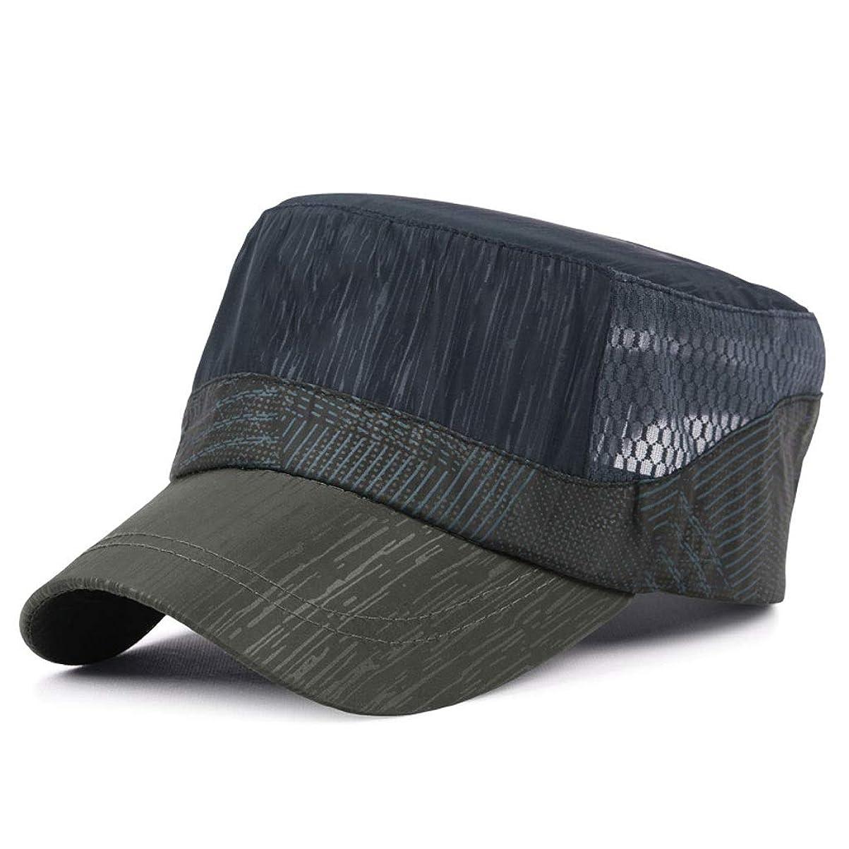 あなたが良くなります資源ショルダー日よけ帽 日曜日帽子夏フラットトップメンズ屋外日焼け止めバイザーキャップ速乾性通気性野球帽55-60 cm UPF 40+ ZHAOSHUNLI (Color : Navy blue)
