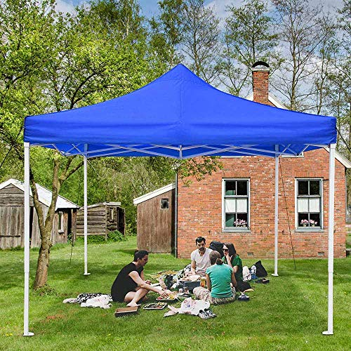 Yescom 10x10Ft Easy Pop Up Canopy Party Wedding Folding Commercial Instant Shelter Blue