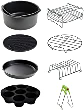 CAXXA 8 PCS 8 Inch XL Air Fryer Accessories, Deep Fryer Accessories with Free Recipe Cookbook and Liner for Growise,Phillips,Cozyna, Cosori Fits All 4.2QT - 5.8QT Air Fryer