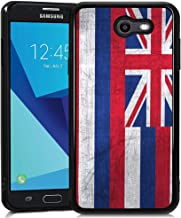 Retro Case State Flag of Hawaii for Samsung Galaxy J7 2017 Soft Protective Case Fashion Style Flexible Rubbery Slim Black Phone Case