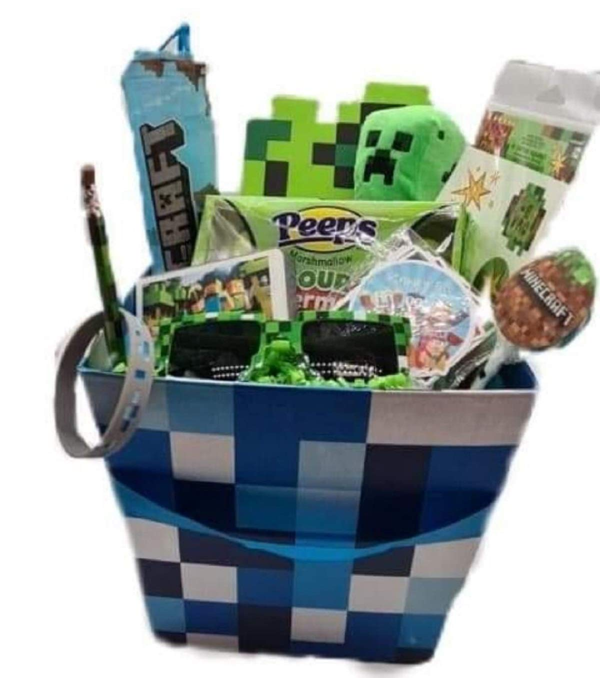 Pixel Themed Virginia Beach Mall Gaming Video Basket Indefinitely Easter Game Gift
