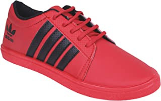SKYMATE Kid's Stylish Red Sneakers,Casual Shoes Sports Shoes for Kid's and Boy's