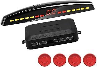 $41 » LCHAO Car Led Parking Sensor Auto Car Detector Parktronic Display Reverse Backup Radar Monitor System with 4 Sensors (Colo...