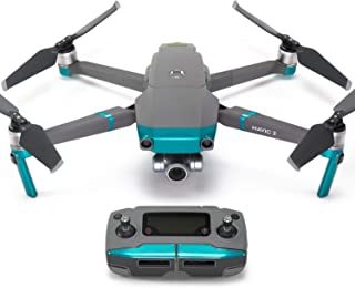 Wrapgrade Poly Skin for DJI Mavic 2 | Accent Color (Caribbean Blue)
