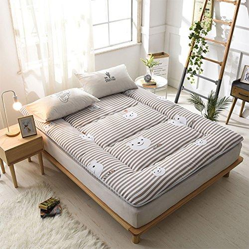 hxxxy Dorm Futon matras topper, Tatami vloermat opvouwbare kussen matten 180x220cm(71x87inch) D
