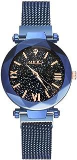 Cathy Clara MEIBO Quartz Stainless Steel Band Magnet Buckle Starry Sky Analog Wrist Watch
