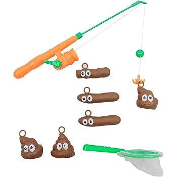 Funny Kids Bath Fishing Game Toy Set Floaters Poo Float Bathing Prank Toys  HTCM