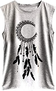 Tank Tops for Women, LIM&Shop Ladies Casual Planet Printed Loose Cami Vest Sleeveless Summer Tank Top Blouse S-2XL