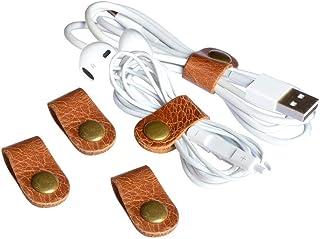 CAILLU CAILLU cord headphone organizer earbud case earphone headset wrap winder handmade Leather,cord management,Phone hea...