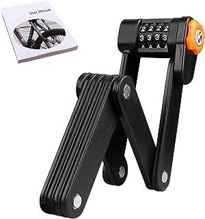Folding Lock, Passwords Bike Lock AUSELECT Portable Road Lock Anti-Theft Lock with Mounting Bracket