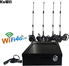 KuWFi Vehicle 4G LTE Car/Bus Carrier Router Openwrt Wireless Router with sim Card Slot LTE Car WiFi Wireless External Antenna Router Specially for Car and Bus(Power Supply not incluled)