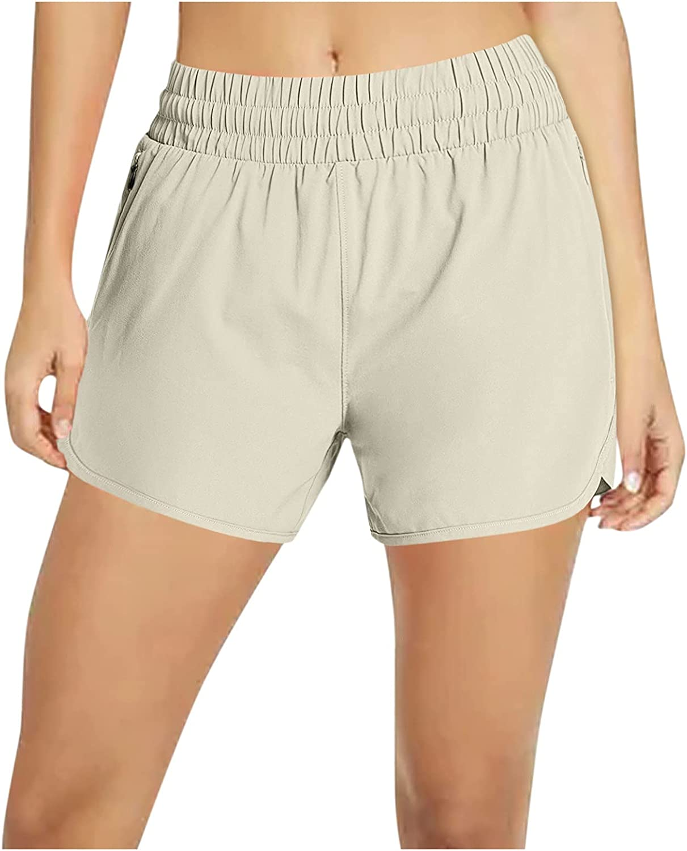 SUNTIN 2021 Shorts Women Women's Athletic Workout Running Shorts Elastic Waist Yoga Pockets Pants Pants Leggings Trousers