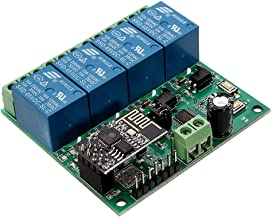 WINGONEER® 5V ESP8266 Four Channel WiFi Relay IOT Smart Home Cellphone APP Remote Control