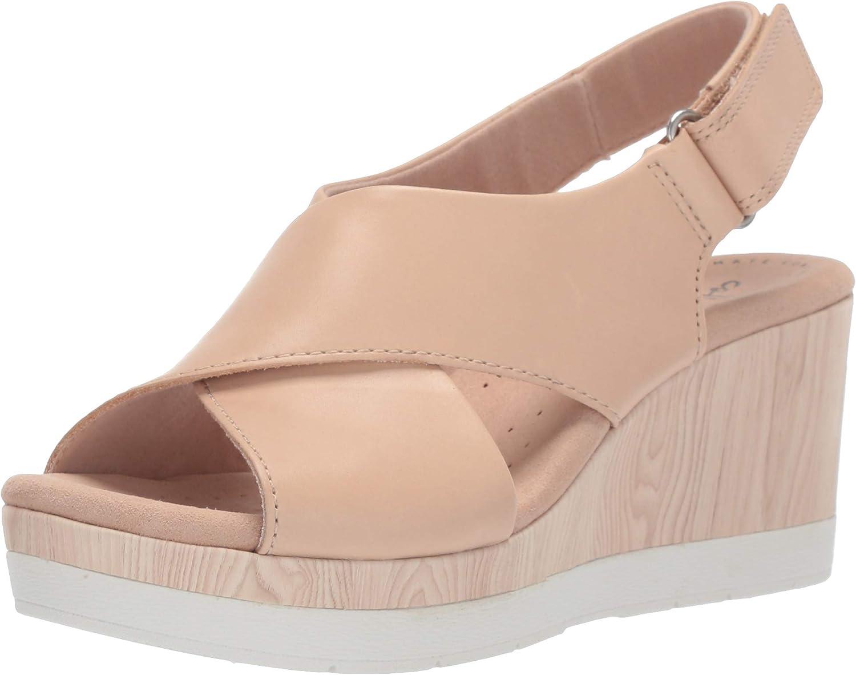 Clarks Womens Cammy Pearl Wedge Sandal