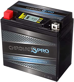 Rechargeable YTX14-BS iGel Powersport Battery- Sealed, AGM Maintenance Free Battery- Chrome Pro Battery