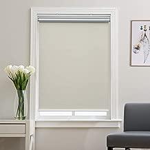 black and cream roman blinds