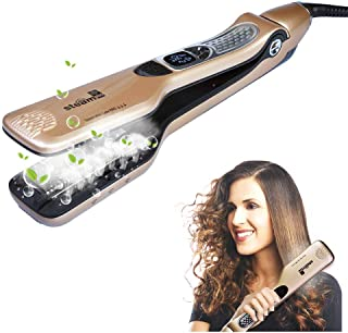 iGutech Professional Flat Iron Hair Straightener with Spray Ceramic Tourmaline, Anti-Scald comb, Adjustable Temp and Auto-off function