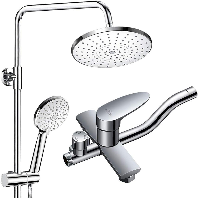 WTYNMOP Full copper faucet body shower set shower supercharged shower head bathroom set