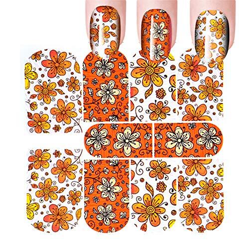 Lumanuby. 3PCS Nail Art Autocollant Patch pour Ongles Deco Nail Art Lot Stickers pour Ongles Nail Outils Artistiques