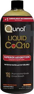 Qunol Liquid CoQ10 100mg, Superior Absorption Natural Supplement Form of Coenzyme Q10, Antioxidant for Heart Health, Orange Pineapple, 90 Servings, 30.4 Fl Oz