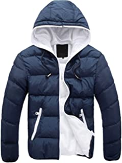 S&S-Men Warm Winter Candy Colors Contrast Lining Thicken Warm Puffer Compressible Jackets