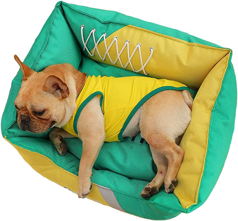 Pet Supplies Pet house kennel medio cane labrador impermeabile impermeabile pad winter (Colore:C, Dimensione:75 *65 * 25)