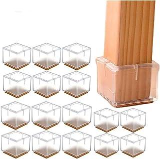 f/ür 30 35/mm /Transparent 16/&nb /F/ü/ße f/ür Tische//St/ühle/ Quadratisch Stuhlbeinkappen /Bodenschoner/ Silikon und Filz Pads/ 1/–1//8/bis 1/–3//20,3/cm