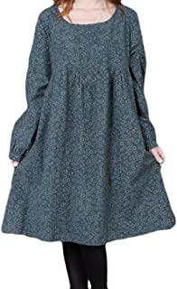 620ab0b3a95 Robe Longue Femme Chic de Soiree Convient pour l automne Sen Vent Femelle  Loose Manches