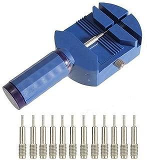 NICERIO Banda de Reloj Ajustable Herramienta de reparación de removedor de Pasador de Enlace con 12 Pernos reemplazables (Azul)