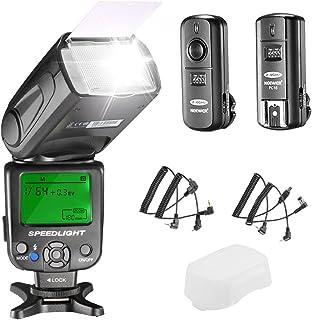 Neewer NW620 Manual Flash Speedlite Kit para Canon Nikon DSLR Cámaras Incluye: NW620 GN58 Flash Speedlite Difusor Rígido 2.4G Disparador Inalámbrico