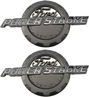 2pcs Matte Black Power Stroke International Diesel Side Fender Emblems 3D logo 6.0L 6.7L 7.3L Powerstroke Badge Replacement for F150 F250 F350