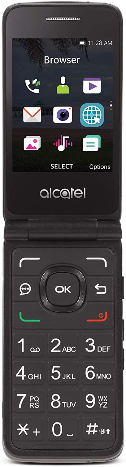 TracFone Carrier-Locked Alcatel MyFlip 4G Prepaid Flip Phone- Black - 4GB - Sim Card Included – CDMA : Cell Phones & Accessories