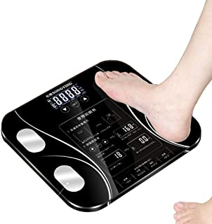 HJTLK Básculas de baño Digitales, Báscula de pesaje Báscula de Alta precisión para el Cuerpo, Báscula Digital LCD para Pesas, 180 kg / 400 LB Negro