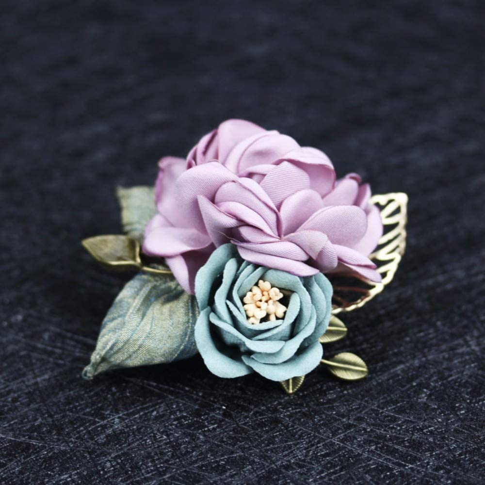 THTHT Woman Brooches Max 42% OFF Handmade Yard V Fabric Flowers Pin Max 61% OFF