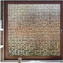 RABBITGOO Decorative Window Film, Privacy Window Clings, Rainbow Window Decals, Stained Glass Window Sticker, Door Window ...