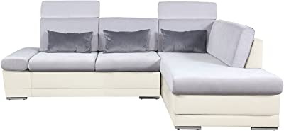 Amazon.com: K&A company 2-Seater Sofa Fabric Light Gray ...